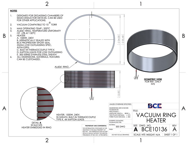 Vacuum Ring Heater